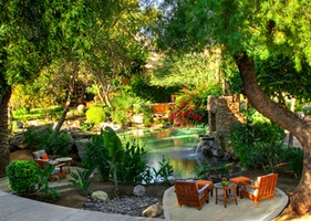 A garden oasis in the middle of the Desert