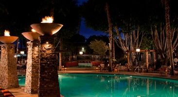 Epic poolside nights WITH FIRE